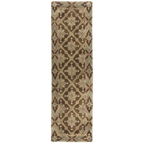 """Kaleen Maharaja Garden Fine Wool Area Runner - 2'3""""x7'9"""""""