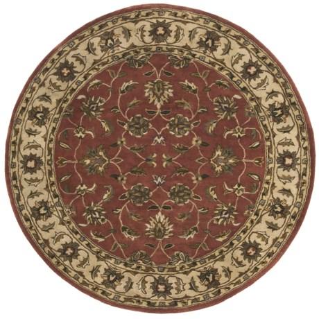 """Kaleen Cornflower Fine Wool Round Area Rug - 5'9"""""""