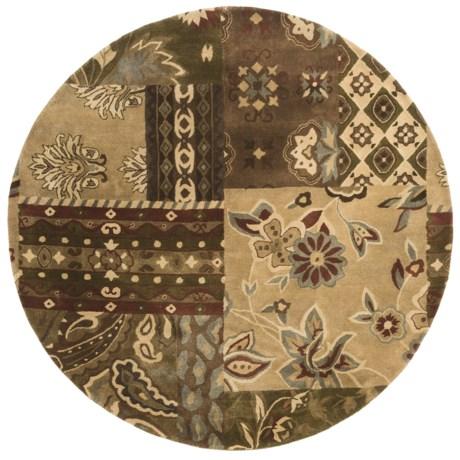 "Kaleen Athenian Garden Fine Wool Round Area Rug - 5'9"""