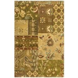 "Kaleen Athenian Garden Fine Wool Area Rug - 5'x7'9"""