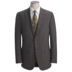 Isaia Wide Stripe Suit - Wool (For Men)
