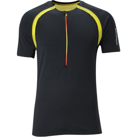 Salomon XA Zipped Shirt - Zip Neck, Short Sleeve (For Men)