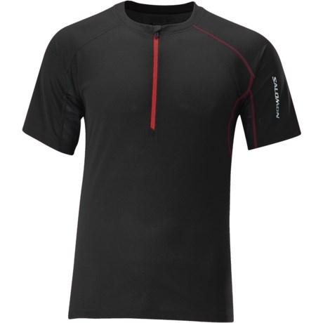 Salomon Trail IV Zip Neck Shirt - Short Sleeve (For Men)