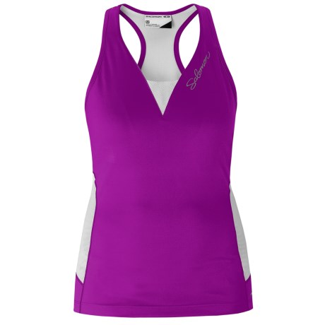 Salomon Impact Twinskin Tank III Tank Top - UPF 50+, Built-In Shelf Bra, Racerback (For Women)
