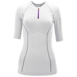 Salomon EXO Motion Zip Neck Shirt - Short Sleeve (For Women)