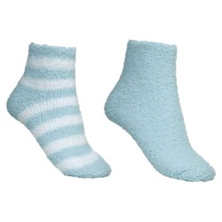 Colorado Clothing Chenille Solid/Stripe Ankle Socks - 2-Pack (For Women)