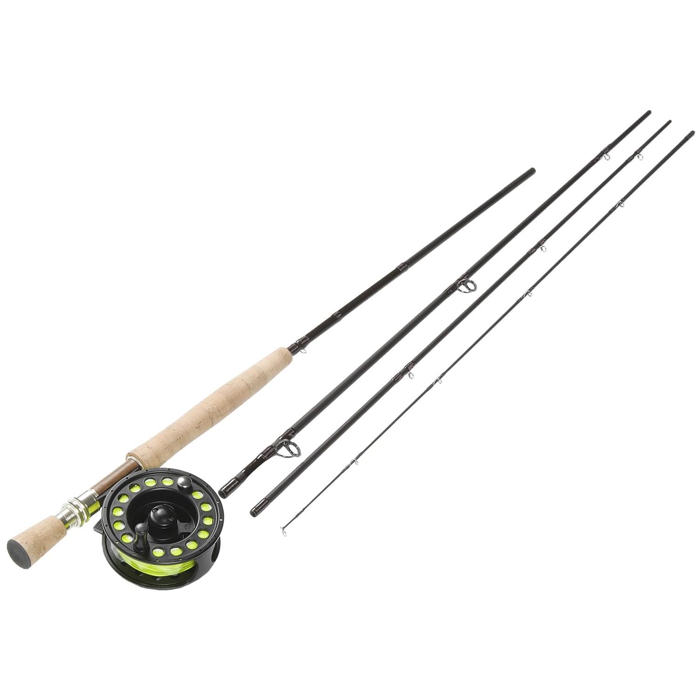 Fenwick hmx fly fishing rod reel combo 4 piece 9 8wt for Blackhawk fly fishing
