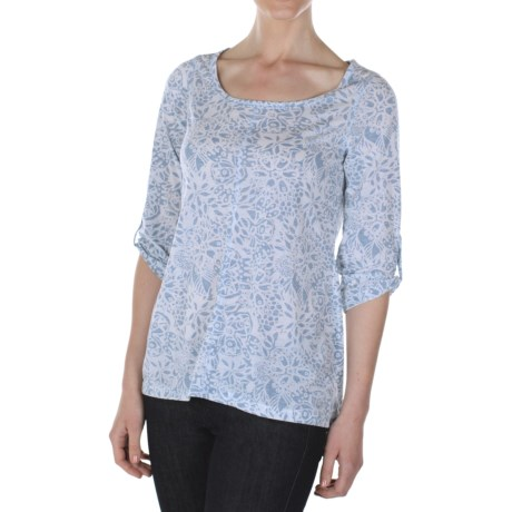 ExOfficio Aza Dri-Release® Shirt - Scoop Neck, 3/4 Sleeve (For Women)
