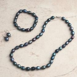 Aluma USA Pearl and Amethyst Jewelry Set