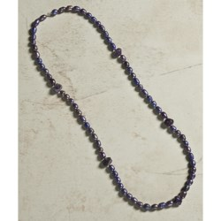 Aluma USA Freshwater Pearl and Amethyst Necklace - 36""