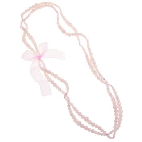 """Aluma USA Rose Quartz Necklace - 60"""""""
