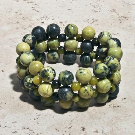 Aluma USA Jasper 5-Strand Stretchy Bracelet