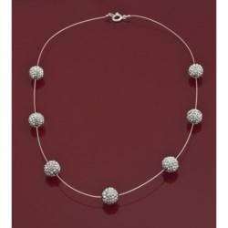 "Aluma USA Pave Crystal Floating Necklace - 20"""