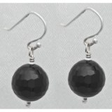 Aluma USA Faceted Onyx Drop Earrings
