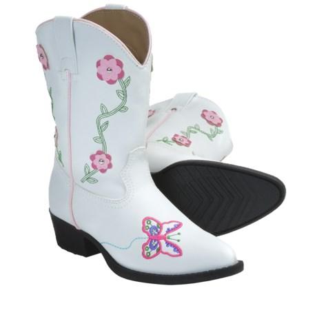 Laredo Flower Power Cowboy Boots (For Kid Girls)