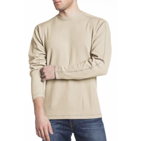 Agave Denim Shark Supima® Flatback Rib Crew Shirt - Long Sleeve (For Men)