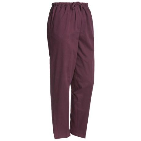 Cotton twill plus size pants