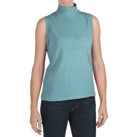 Nina Capri Mock Neck Shirt - Sleeveless (For Women)