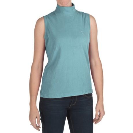 Nina Capri Mock Neck Shirt - Sleeveless (For Women)