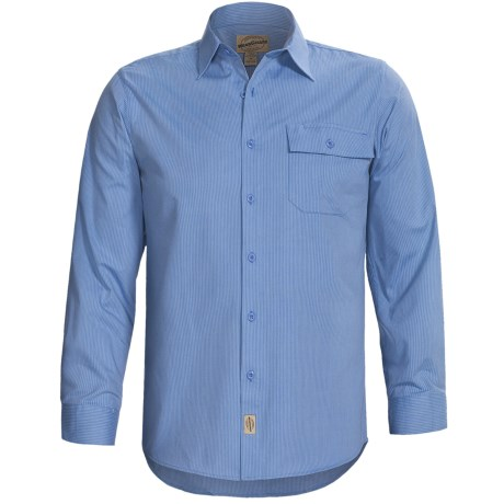 Button-Front Work Shirt - Long Sleeve (For Men)