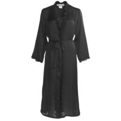 Linda Hartman Classic Tea Length Kimono - Long Sleeve (For Women)