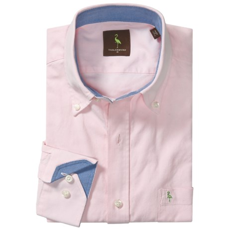 TailorByrd Tailorbyrd Solid Oxford Sport Shirt - Long Sleeve (For Men)