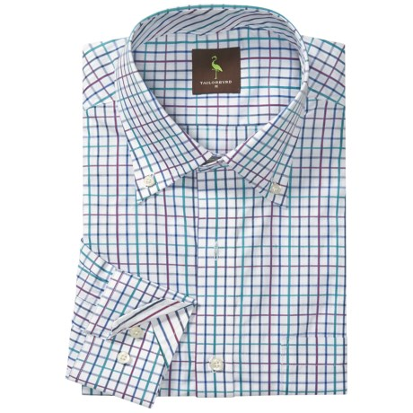 Tailorbyrd Mini-Check Sport Shirt - Long Sleeve (For Men)