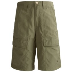 White Sierra Safari Shorts - UPF 30 (For Youth)