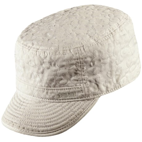 Pistil Cami Military Cap - Cotton Canvas, Embroidered (For Women)