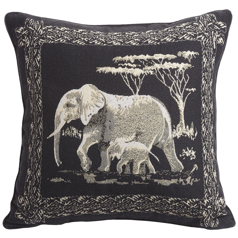 Commonwealth Home Fashions Safari Tapestry Decorative Pillow - 15x15