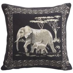 "Commonwealth Home Fashions Safari Tapestry Decorative Pillow - 15x15"""