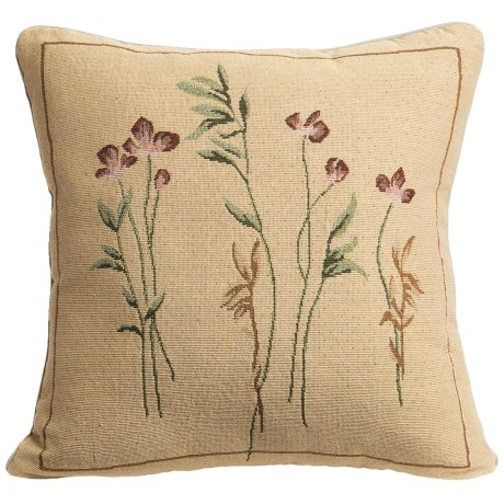 Commonwealth Home Fashions Floral Tapestry Decorative Pillow - 15x15""