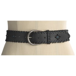 Forest and Culver Whip Stitch Belt - Turquoise Studs (For Women)