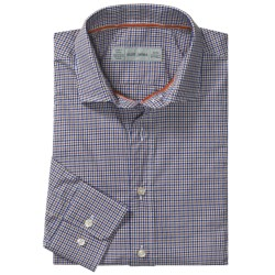 Scott James Heath Micro-Check Sport Shirt - Long Sleeve (For Men)