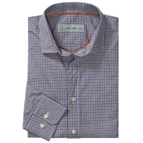 Scott James Heath Micro-Check Sport Shirt - Long Sleeve (For Men)