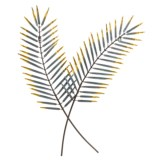 Gardman Palm Leaf Wall Art - Steel