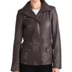 Marc New York by Andrew Marc Scuba Jacket - Distressed Leather, Quilted Insets (For Women)