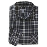 Martin Gordon Brushed Cotton Plaid Sport Shirt - Long Sleeve (For Men)