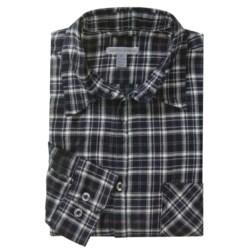 Martin Gordon Brushed Cotton Plaid Sport Shirt - Long Sleeve (For Men)