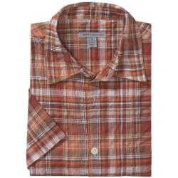 Martin Gordon Crinkle Cotton Plaid Shirt - Short Sleeve (For Men)