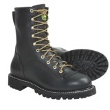 "John Deere Footwear 9"" Logger Work Boots - Waterproof, Leather (For Men)"
