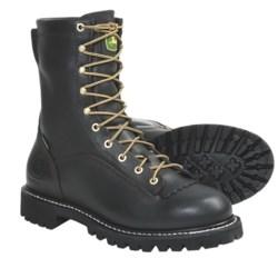 """John Deere Footwear 9"""" Logger Work Boots - Waterproof, Leather (For Men)"""