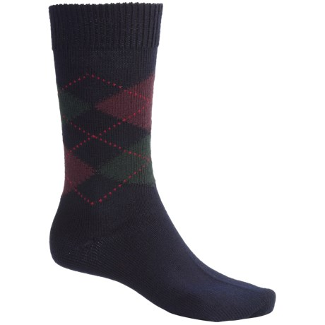 Pantherella Argyle Socks - Merino Wool, Midweight, Crew (For Men)