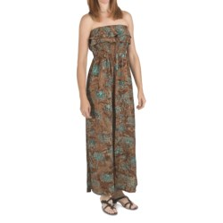 Nomadic Traders Rayon Batik Maxi Dress - Removable Straps (For Women)