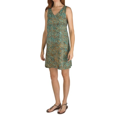 Nomadic Traders Batik Double-V Tank Dress - Rayon, Sleeveless (For Women)