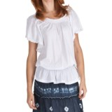 Fresco by Nomadic Traders Ciara Shirt - Smock Cotton Knit, Short Sleeve (For Women)