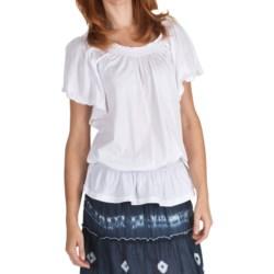 Nomadic Traders Fresco by  Ciara Shirt - Smock Cotton Knit, Short Sleeve (For Women)