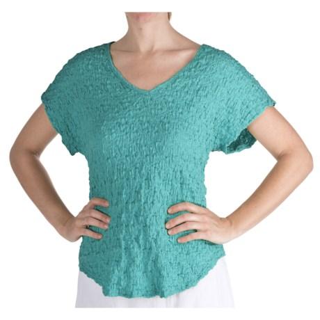 Nomadic Traders Sydney Puckered Cotton Shirt - Short Sleeve (For Women)