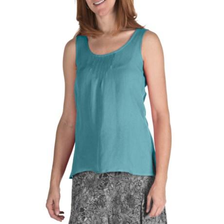 Nomadic Traders Linen-Rayon Pintuck Shirt - Sleeveless (For Women)