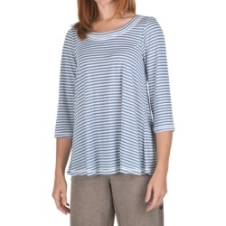Nomadic Traders Stripe Hannah Shirt - Cotton-Modal, 3/4 Sleeve (For Women)
